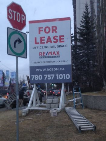 Edmonton For Lease Sign