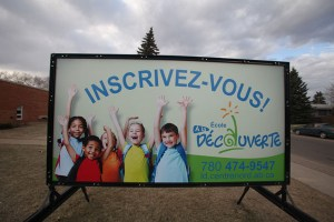 Edmonton School Sign