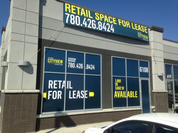 For Lease Sign Edmonton