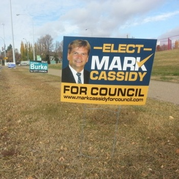 Morinville Election Portable Signs
